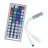 Wholesale dc12v battery resale online - DC12V A Mini RGB led controller with Keys IR Remote Control Dimmer wireless for LED Strip modes