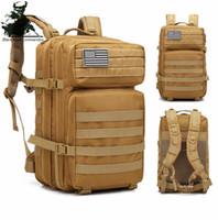 sacos de senderismo del ejército al por mayor-Paquete de asalto táctico mochila Ejército Molle impermeable Bug Out Bag pequeña mochila para senderismo al aire libre que acampa de caza