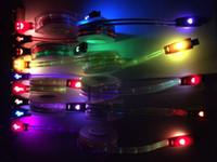 cable de cara sonriente al por mayor-Iluminación Cables retráctiles flexibles 1M Micro USB Fecha para samusng HTC Samsung S9 7 más Xiaomi Huawei LED Luminous Smile Face cargador