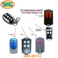 controle remoto universal código rolante venda por atacado-V2 PHOENIX2 PHOENIX4 V2 TXC HANDY TSC4 TRC controle remoto da porta da garagem 433.92 mhz código rolling frete grátis