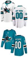 Wholesale Custom Nhl Hockey Jerseys - Lowest Price ! Customized 2018 AD San Jose Sharks Jerseys Green Black White Custom NHL Hockey Jerseys Stitched Any Name Number