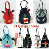 Wholesale coin purses handle - Fashion Large Party Gifts Bags With Handles Ladies Printed Purse Drawstring Packaging Pouch Storage Bag For Coin Key HH7-454