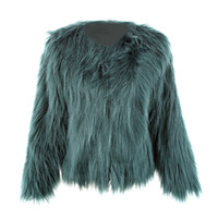 Wholesale women winter party coats online - 2017 Imitation Fur Overcoat Short Fur Coat Floating Hair Jacket Faux Fox Jackets Hairy Party Winter Warm Coat Plus Size XXXL