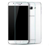 anti-schock-schutzfolie großhandel-Hartglas Displayschutzfolie Premium 9H Anti-Schock Hartglas Displayschutzfolie für Samsung A9 A8 A7