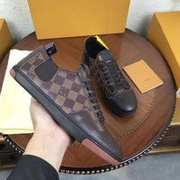 Wholesale advanced fashion - 2018New fashion luxury brand advanced manual Men's fashion classic leisure sneaker size 38 ~45.Free delivery + box