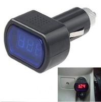 mazda monitörü toptan satış-Yeni Taşınabilir Dijital Monitör Araba Volt Voltmetre Tester LCD Çakmak Gerilim Paneli Metre Teşhis Araçları CCA10351 400 adet