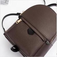 kahverengi kız okul çantaları toptan satış-Genç kızlar ve bayanlar için yeni moda rahat hakiki deri okul çantası packback okul çantası kahverengi