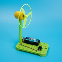 electric models science Australia - DIY Electric Fan Self Control Summer Model Science Experiment Creative Small Production Education Toy Plastic Child 6jr V