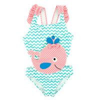 çocuklar için balerinler toptan satış-Çocuklar Bebek Kız Mayo Balina Nakış Bir Adet Mayo Mayo Çocuk Kız Plaj Kıyafeti 12 M-6 T Bebek Mayo Tek Parça Giyim