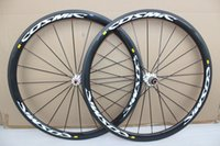 Wholesale road carbon fiber wheels - cosmic wheelset Carbon Fiber Road Bicycle Wheelset 700C Wheels 38mm Clincher Matte Finish For 9 10 11 Speed