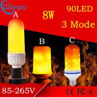 ampoules décoratives de noël achat en gros de-Effet de flamme LED ampoules E27 2835SMD 8W 3 modes émulation scintillante lampes à flamme décorative pour la décoration de Noël Halloween