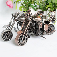 Wholesale ceremony decor for sale - Group buy 2019 cm Motorcycle Model Retro Motor Figurine Metal Decoration Handmade Iron Motorbike Prop Vintage Home Decor Kid Toy