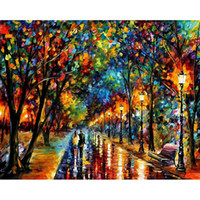 Wholesale lovers oils canvas - Wall Picture Painting By Numbers Of Lover Wall Art DIY Digital Canvas Oil Painting Home Decor For Living Room zx2