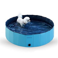 piscinas dobráveis venda por atacado-Suprimentos para animais de Estimação Piscina Dobrável Piscinas Cão Gato Fresco Jogar Bacia De Banho Produtos de Limpeza Pvc Fácil de Armazenar 68qb2 Ww