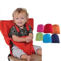 bebek besleme sandalyesi toptan satış-Bebek Çuval Koltuklar Taşınabilir Yüksek Sandalye Omuz Askısı Bebek Emniyet Emniyet Kemeri Toddler Besleme Koltuk Kılıfı Demeti Yemek Sandalyesi kapak C3560