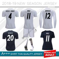 617c3126868 2018 2019 Real Madrid home soccer jersey 18 19 BENZEMA BALE KROOS SERGIO  ISCO RAMOS MODRIC NAVAS ASENSIO Away 3rd football shirts