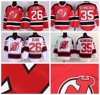 jersey salvador al por mayor-New Jersey Devils Hockey Jerseys Ice 6 Andy Greene 26 Patrik Elias 14 Adam Henrique 19 Travis Zajac 13 Michael Cammalleri 24 Bryce Salvador
