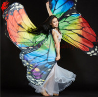 Wholesale dance wear for kids - Women Butterfly Dancing Wings Girls Belly Dance Openging Split Wing For Lady Belly Dance Wear Adult Kids