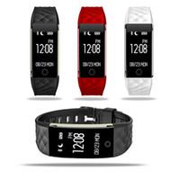 montre bracelet tw64 smart achat en gros de-Dynamique fréquence cardiaque S2 Smartband Fitness Tracker Étape Counter Smart Watch Band Vibration Bracelet pour ios android pk ID107 fitbit tw64 DHL