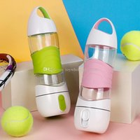 Wholesale Beauty Night Fashion - Creative sports portable water cup Multi-function USB Charge Beauty humidifier 2018 fashion LED Night light Water bottle 400ml Cups C3769