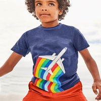 Wholesale stylish boys clothes - Summer T Shirts with Animal Appliqued Baby Boys Clothing hot Sale Stylish Patterns Printed Kids Tees FREE SHIPPING