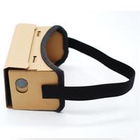 lunettes virtuelles de théâtre privé achat en gros de-Universel DIY Google Cardboard Lunettes 3D Lunettes de Réalité Virtuelle Vr Box 3d Verre Théâtre Privé Pour 4-6inch Smartphone IOS