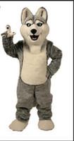 trajes de caráter de alta qualidade venda por atacado-2018 trajes da mascote do lobo de alta qualidade halloween dog mascot character feriado head fancy party costume adult size birthday