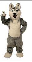 doğum günü partisi için maskot kostümleri toptan satış-2018 Yüksek kaliteli Kurt maskot kostümleri cadılar bayramı köpek maskot karakter tatil Kafa fantezi parti kostüm yetişkin boyutu doğum günü