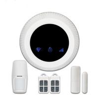 ingrosso sistema di allarme antifurto senza fili android-2018 Sistema di allarme GSM WIFI wireless Smart Home Security con supporto telecamera IP Servizio IOSAndroid