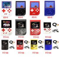 tv lcd al por menor al por mayor-CoolBaby NES Mini consola de juegos portátil RS-6 TY-01 TY-02 con 3 pulgadas LCD Game Player para FC caja al por menor DHL / FEDEX envío gratis