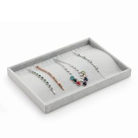Wholesale Jewelry Box Makeup Organizer Ring Earrings Ear Studs Jewelry Display Stand Holder Rack Showcase Plate Cosmetic Storage