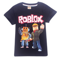 Wholesale clothes for kids fashion girls boys online - 2018 new Summer Big Boys Girls Clothes Short Sleeve T Shirt for Children Roblox Printed Youtube Game Kids Boys Tops Shirts Y