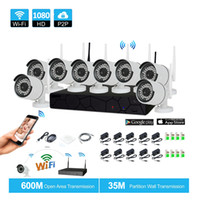 Wholesale Wireless Outdoor Camera System - 8CH CCTV System Wireless 1080P NVR 8PCS 2.0MP IR Outdoor P2P Wifi IP CCTV Security Camera System Surveillance Kit
