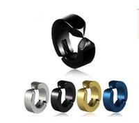 boucles d'oreilles percées en acier inoxydable achat en gros de-Punk Fashion Mens boucles d'oreilles magnétiques non percées en acier inoxydable oreille titanique clips métal punk hip-hop stud