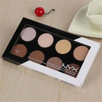 Wholesale Pro Grooming - NYX Highlight & Contour Pro Pattle Review Face Pressed Powder Foundation Grooming Shadow Powder Palette Makeup Cosmetic 8 Colors