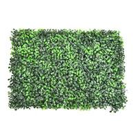 ingrosso tappeto erboso artificiale-63 * 44 cm FAI DA TE Erba Artificiale Prato Plastica Piante Verdi Paesaggio Piazza Turf Eucalipto Foglia Soda per il Supermercato Negozio Decorazione Della Parete
