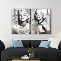Wholesale traditional oil paintings for sale - 2 Paintings 2018 Hot Sale Fashion Monroe Home Decor Wall Art Painting Suitable for Home Furnishings