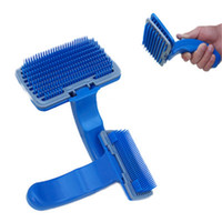 Wholesale detachable brushes - Plastic Detachable Practical Soft Dog Comb For Pets Hair Grooming Comfortable Round Point Brushes Puppy Supplies 4 75he Z