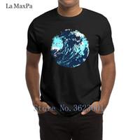 pintura abstracta de las olas del océano al por mayor-Imprimir Ocio Camiseta Pintada Resumen Artístico Maverick Wave Ocean Art Camiseta para Hombres Hilarious Costume 0 The New Tshirt