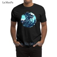 ingrosso vernice astratta dell'onda dell'oceano-Stampa T-Shirt per il tempo libero Dipinta astratta artistica Maverick Wave Ocean Art Maglietta per uomo Costume divertente 0 La nuova maglietta