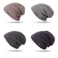 beanie para la venta al por mayor-2019 Colores de invierno para hombre populares regalo hecho a mano Multi Resistencia Hilados de lana fría Cap Beanie en Venta