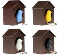 ingrosso gli anelli d'anello chiave-Novità Colorful Sparrow Bird Whistle Portachiavi Love Bird House Portachiavi Suite Home Furnishing Regali di moda