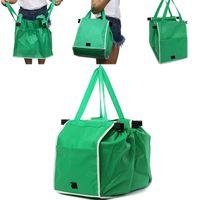 ingrosso carrello per lo shopping-Nuova borsa shopping non tessuto supermercato borsa a carrello Borsa spesa pieghevole bag riutilizzabile borsa grande capacità WX9-757