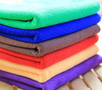 Wholesale car dry cloth - 30*60cm Microfiber Car Cleaning Towel Microfibre Car wash Cloth Hand Towel Microfiber Towel Car Dry pad kitchen cleaning towels G233