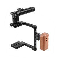 ingrosso gabbia superiore maniglia dslr-CAMVATE DSLR Camera Cage Top Handle Wood Grip per Canon 600D 70D 80D
