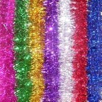 Wholesale wholesale christmas decorations tinsel - 10pcs  Lot 9cm Colorful Ribbon Christmas Tinsel Stage Decoration Ribbon Wedding Decoration Party Decorations Free Shipping 6z