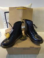 botas para motocicletas venda por atacado-Designer de Martin sapatos de Couro Genuíno Botas de Alta Top Dr 1460 estilo da motocicleta pt Mulheres Slim Fit Sapatos Amante de Neve Botas