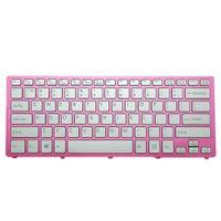 Wholesale laptop pink keyboard online - Laptop US Keyboard For SONY SVF14N Series Pink Frame Silver PN With Backlit Win8 Z NABBQ B01 SKBBQ Black