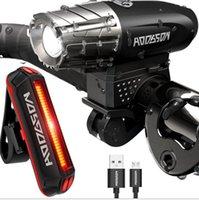 Wholesale Range Lead - New USB Rechargeable Bike Headlamp&taillight Mountain Bike Search Light 300 lumen headlamp A wide range of search night riding flashlight