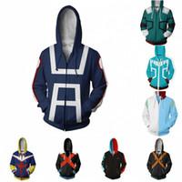 anime hoodies für männer großhandel-Mein Held Academia Anime Cosplay Kostüm Sweatshirts Bakugo Katsuki 3D Hoodies Neue Männer Frauen College Kleidung Top 2018